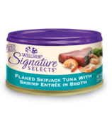 Wellness Signature Selects Flaked Skipjack Tuna & Shrimp Wet CASE OF 12