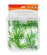 Full Circle Ziptuck Reusable Sandwich Bags Palm Leaves