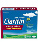 Claritin Extra Strength Non-Drowsy Allergy & Sinus