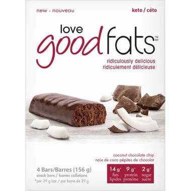 Love Good Fats Coconut Chocolate Chip Snack Bar