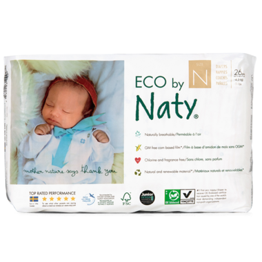 Eco by Naty Newborn Diapers