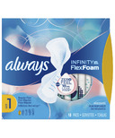 Always Infinity FlexFoam Pads With Wings