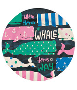 Little Blue House Kids Bamboo Plate Whales