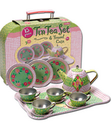 Schylling Tin Tea Set & Travel Case