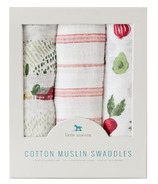 Little Unicorn Cotton Muslin Swaddle Set Farmers Market