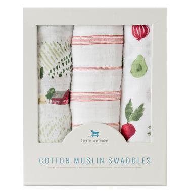 Little Unicorn Cotton Muslin Swaddle Set Farmers Market