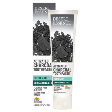 Desert Essence Activated Charcoal Toothpaste Fresh Mint