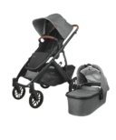UPPAbaby VISTA V2 Stroller Greyson Charcoal Melange Black Saddle Leather