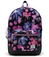 Herschel Supply Heritage Youth X-Large Blurry Floral/Black Crosshatch