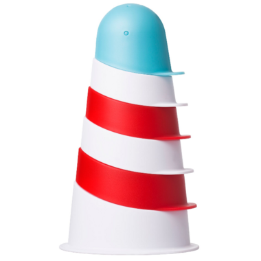 Ubbi Bath Toy Lighthouse Stacking Cups