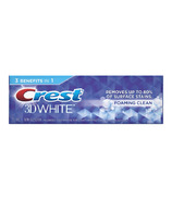 Crest 3D White Toothpaste Foaming Clean
