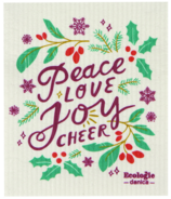 Now Designs Ecologie Swedish Sponge Cloth Peace, Love, Joy & Cheer