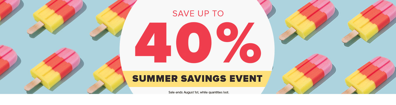 Save up to 40% on Summer Event
