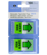 Sparco Removable Sign & Date Flags