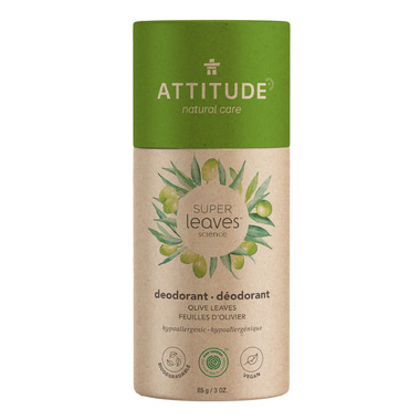 ATTITUDE Super Leaves Plastic-Free Natural Deodorant Olive Leaves