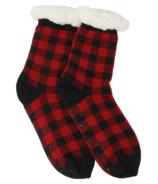 Hatley Sherpa Lined Cabin Socks Buffalo Plaid