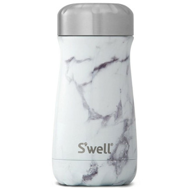 S\'well Traveler Stainless Steel Wide Mouth Bottle White Marble