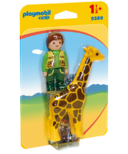 Playmobil 1.2.3 Zookeeper with Giraffe