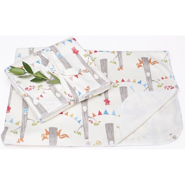 Oko Creations Large Organic Cotton Baby Blanket Enchanted Forest