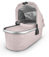 UPPAbaby V2 Bassinet Alice Dusty Pink Silver Saddle Leather
