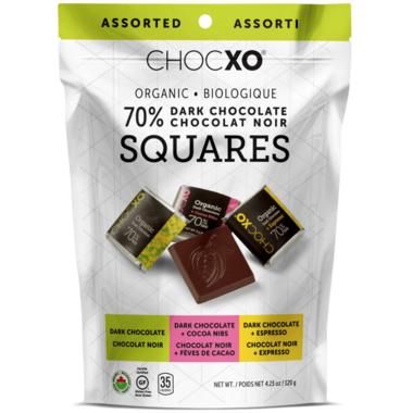 ChocXO Organic Assorted Dark Chocolate Squares