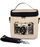 SoYoung Raw Linen Black Camera Large Cooler Bag