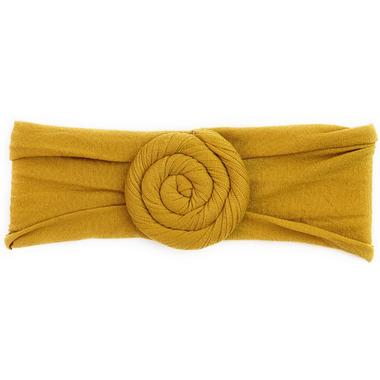 Baby Wisp Nylon Headwrap Roll Headband Mustard