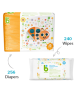 babyganics Newborn Diaper + Fragrance Free Wipes Bundle