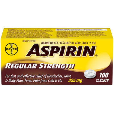 Aspirin 325mg Regular Strength Tablets Large Bottle