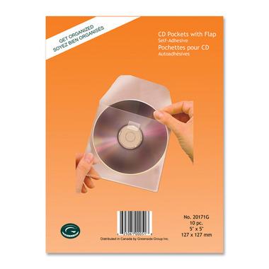 Greenside Group Poly Self Adhesive CD/DVD Pockets