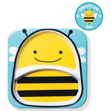 Skip Hop Zoo Tableware Melamine Plate Bee Design