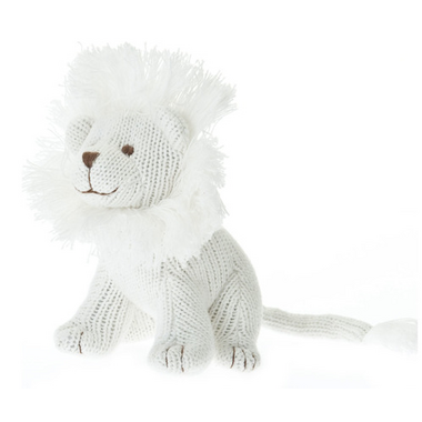 Beba Bean Ivory Knit Lion Rattle