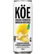 KOE Organic Kombucha Lemon Ginger
