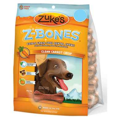 Zuke\'s Large Z-Bones Clean Carrot Crunch 6 Pack