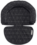 JJ Cole Black Tri-Stitch Head Support