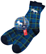 Little Blue House Men's Socks in Ornament Moose Plaid