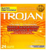 Trojan Naked Sensations Ultra Ribbed Lubricated Latex Condoms