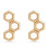 Bluboho Honeycomb Earrings 14k Yellow Gold