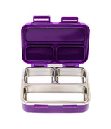 SkyeBox Leakproof Stainless Steel Bento Style Lunch Box Purple