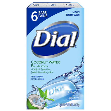 Dial Coconut Water Glycerin Soap With Bamboo Leaf Extract