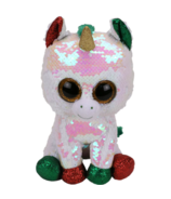 Ty Flippables Stardust The Christmas Sequin Unicorn Large