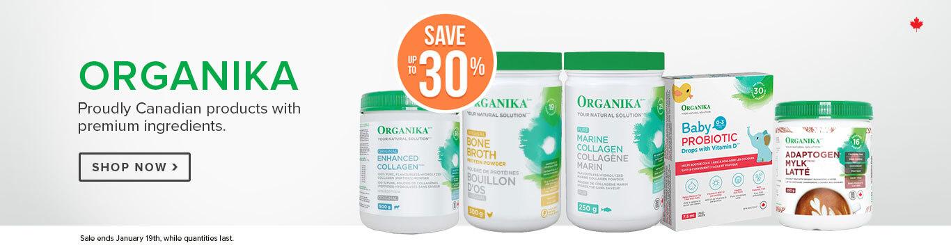 Save up to 30% on Organika