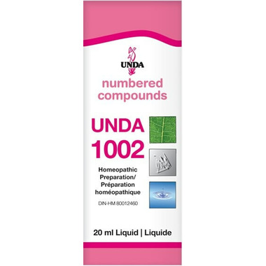 UNDA Numbered Compounds UNDA 1002 Homeopathic Preparation