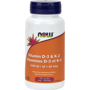 NOW Foods Vitamin D-3 & K-2 1000 IU/45 mcg