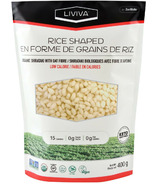 Liviva Rice Shaped Organic Shirataki with Oat Fibre