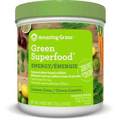Amazing Grass Green SuperFood High Energy Lemon Lime
