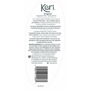 Keri Moisturizing Body Lotion Skin Therapy Fragrance Free