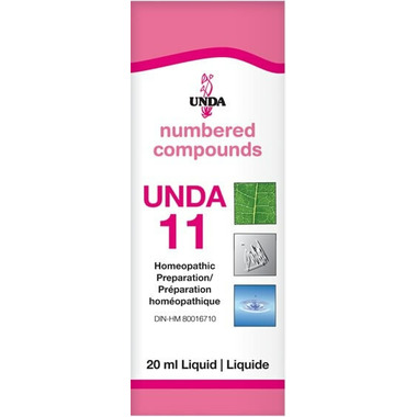 UNDA Numbered Compounds UNDA 11 Homeopathic Preparation