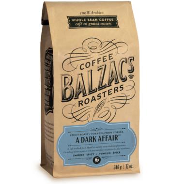 Balzac\'s Coffee Roasters Whole Bean A Dark Affair