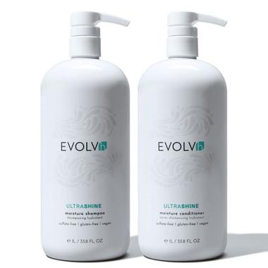 EVOLVh Ultrashine Shampoo & Conditioner Liter Duo 2x 1L